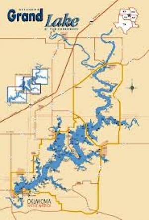 Map of Grand Lake Oklahoma